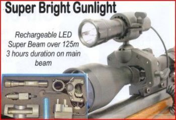 Clulite MG125 Metre LED 25/30mm Rifle Scope Gun Light